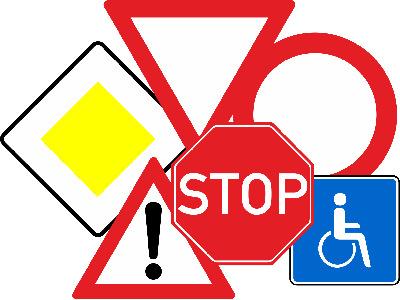 Знаки дорожнього руху фото