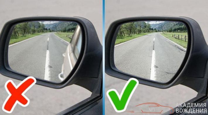 Правильная настройка боковых зеркал