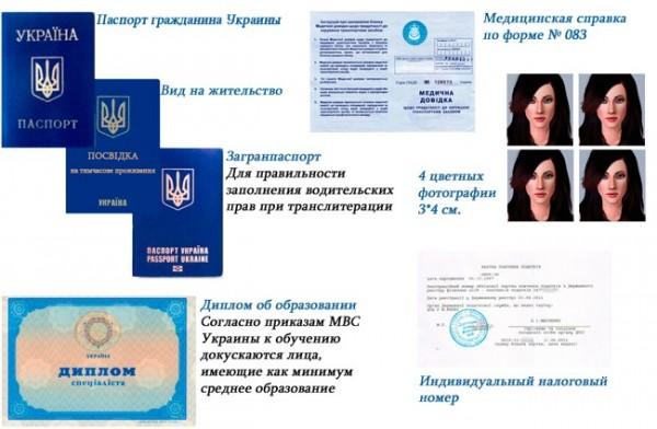 документы автошкола